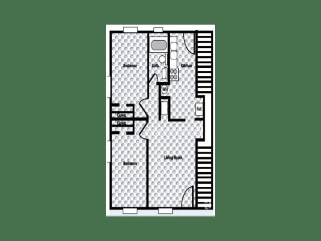 2 Bedrooms 1 Bathroom Apartment for rent at Westside Crossing in Atlanta, GA