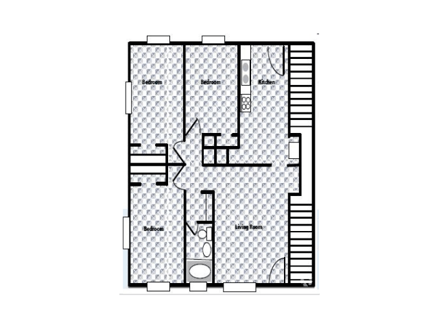 3 Bedrooms 1 Bathroom Apartment for rent at Westside Crossing in Atlanta, GA