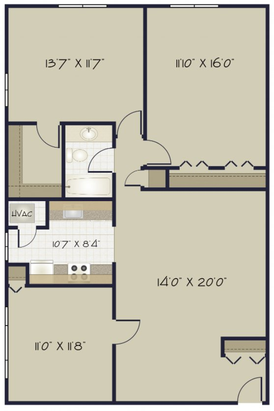 3 Bedrooms 1 Bathroom Apartment for rent at Camelot Apartments in Pittsburgh, PA