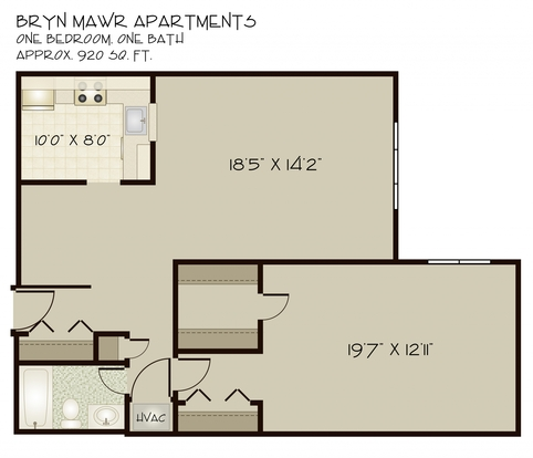 1 Bedroom 1 Bathroom Apartment for rent at Bryn Mawr in Pittsburgh, PA