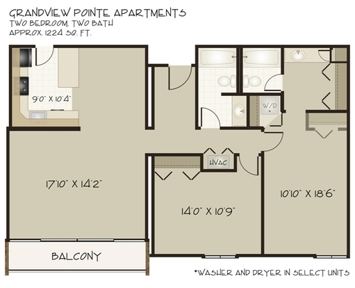 2 Bedrooms 2 Bathrooms Apartment for rent at Grandview Pointe in Pittsburgh, PA