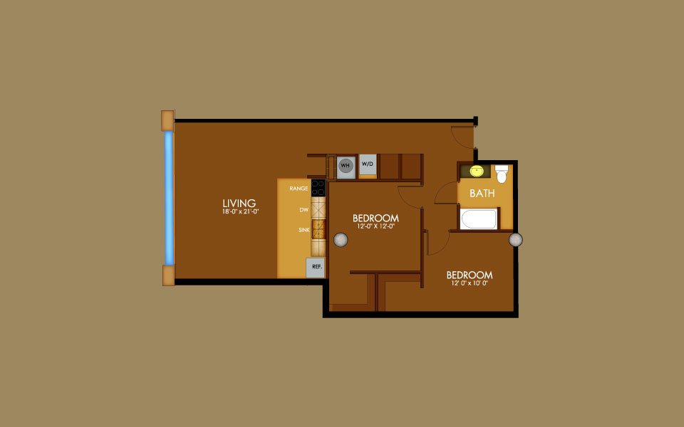 2 Bedrooms 1 Bathroom Apartment for rent at Motorwheel Lofts in Lansing, MI