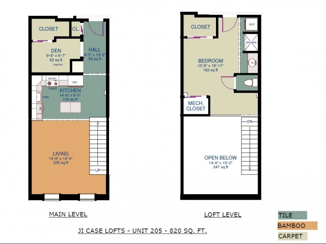 2 Bedrooms 1 Bathroom Apartment for rent at JI Case Lofts in Lansing, MI