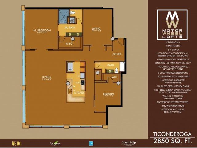 3 Bedrooms 3 Bathrooms Apartment for rent at Motorwheel Lofts in Lansing, MI