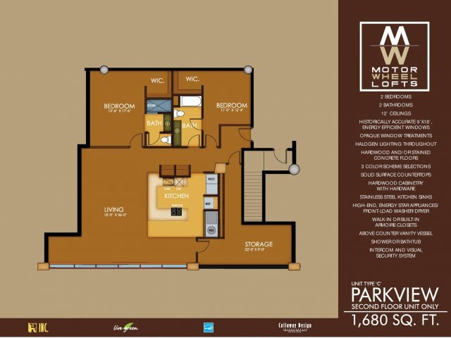 3 Bedrooms 2 Bathrooms Apartment for rent at Motorwheel Lofts in Lansing, MI