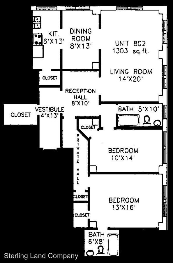 2 Bedrooms 2 Bathrooms Apartment for rent at King Edward Apartments (new) 4601 Bayard Street in Pittsburgh, PA