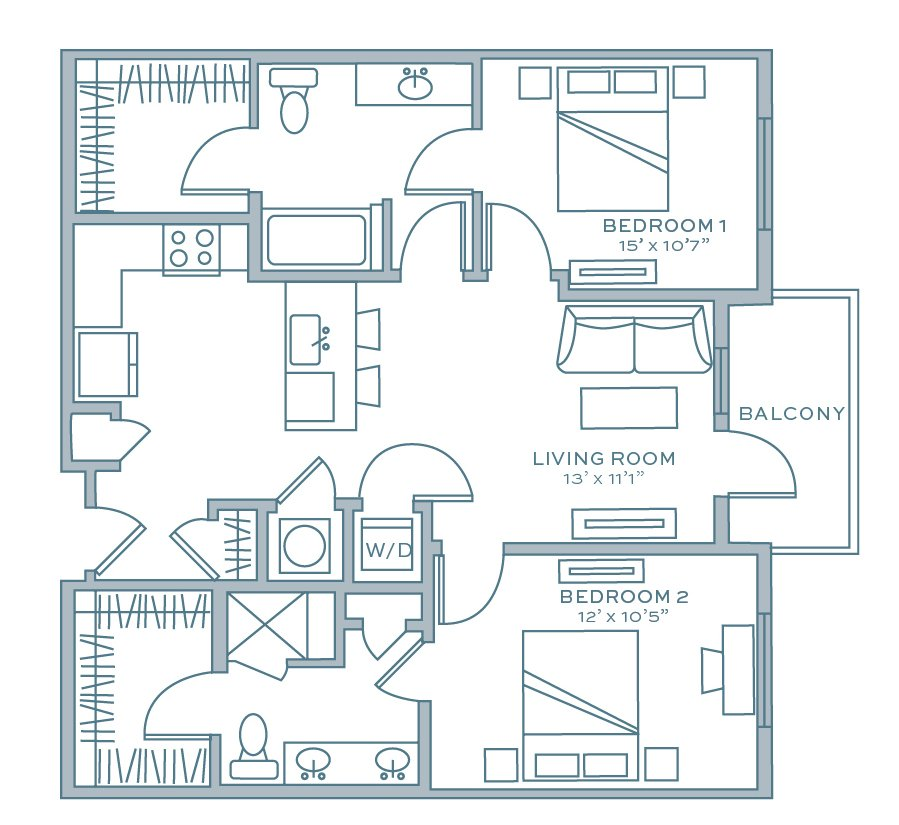 2 Bedrooms 2 Bathrooms Apartment for rent at Aston City Springs in Sandy Springs, GA