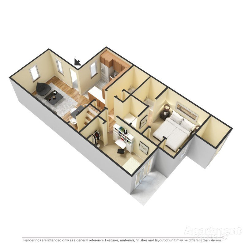 2 Bedrooms 2 Bathrooms Apartment for rent at Hunters Run in Raleigh, NC
