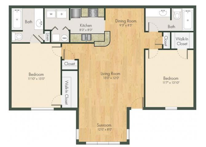 2 Bedrooms 2 Bathrooms Apartment for rent at Addison On Cobblestone in Fayetteville, GA