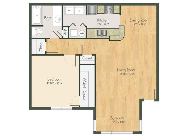 1 Bedroom 1 Bathroom Apartment for rent at Addison On Cobblestone in Fayetteville, GA
