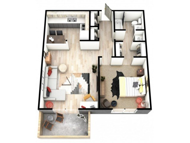 1 Bedroom 1 Bathroom Apartment for rent at Mint Urban Infinity I in Denver, CO