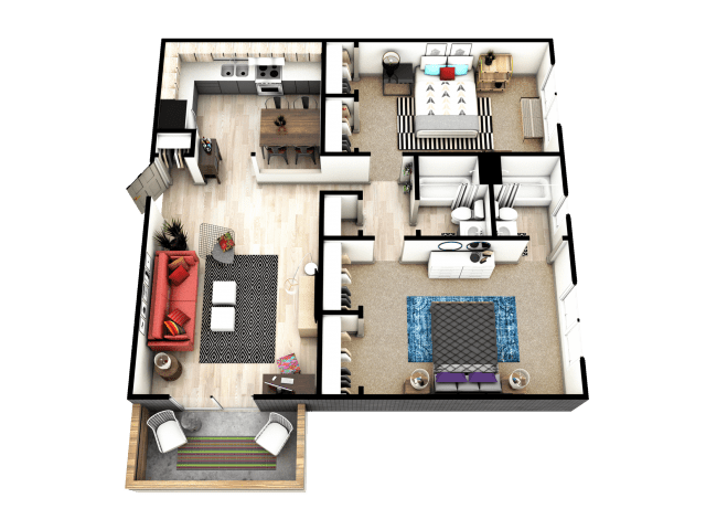 2 Bedrooms 2 Bathrooms Apartment for rent at Mint Urban Infinity I in Denver, CO