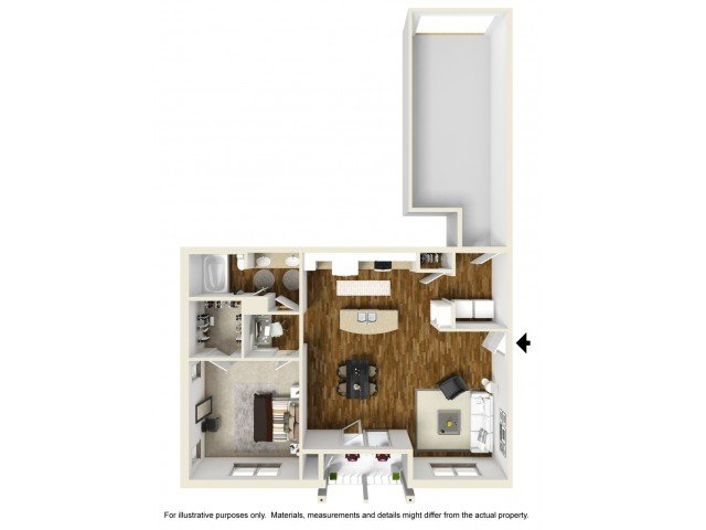 1 Bedroom 1 Bathroom Apartment for rent at Kelly Farms Apartments in Columbia, MO
