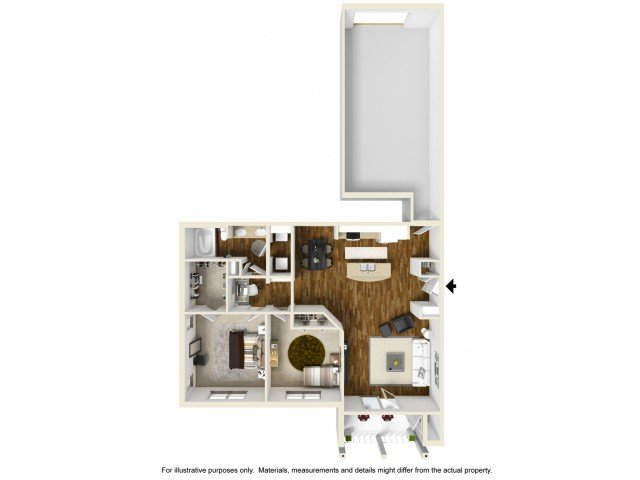 2 Bedrooms 1 Bathroom Apartment for rent at Kelly Farms Apartments in Columbia, MO