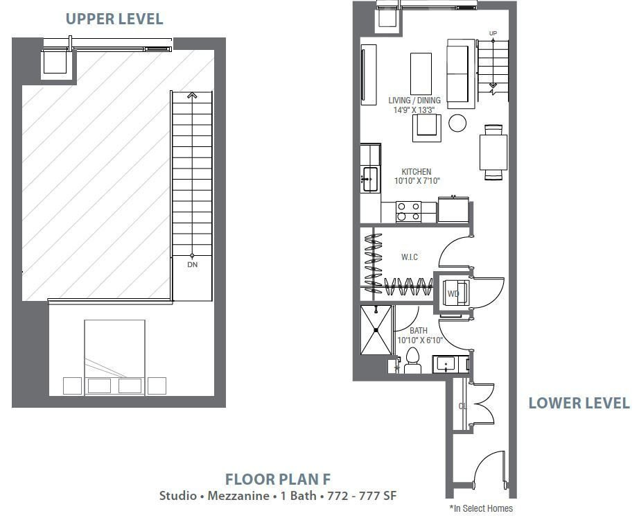 Studio 1 Bathroom Apartment for rent at Atelier At University Park in Denver, CO