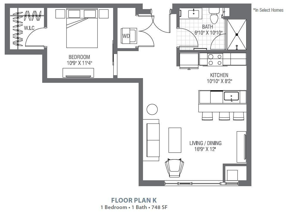 1 Bedroom 1 Bathroom Apartment for rent at Atelier At University Park in Denver, CO
