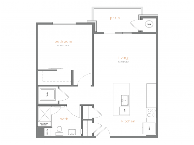 1 Bedroom 1 Bathroom Apartment for rent at Station A Apartments in Denver, CO