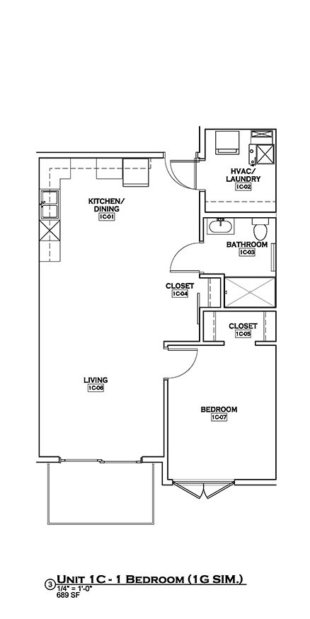1 Bedroom 1 Bathroom Apartment for rent at Ingersoll Square in Des Moines, IA