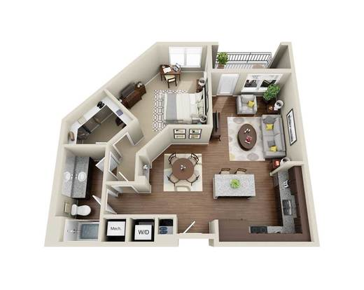 1 Bedroom 1 Bathroom Apartment for rent at 300 Swift in Durham, NC