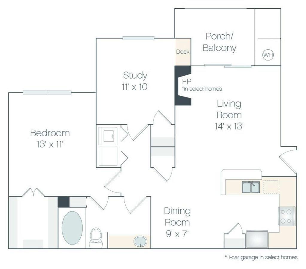 2 Bedrooms 1 Bathroom Apartment for rent at Haven 124 At Eastlake Station in Northglenn, CO