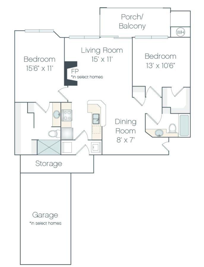 2 Bedrooms 2 Bathrooms Apartment for rent at Haven 124 At Eastlake Station in Northglenn, CO