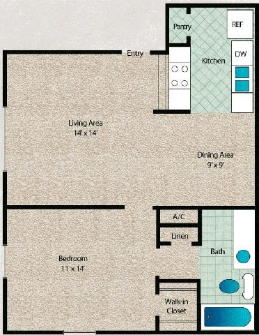 1 Bedroom 1 Bathroom Apartment for rent at Arbors Of Cleburne in Cleburne, TX