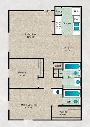 2 Bedrooms 2 Bathrooms Apartment for rent at Arbors Of Cleburne in Cleburne, TX