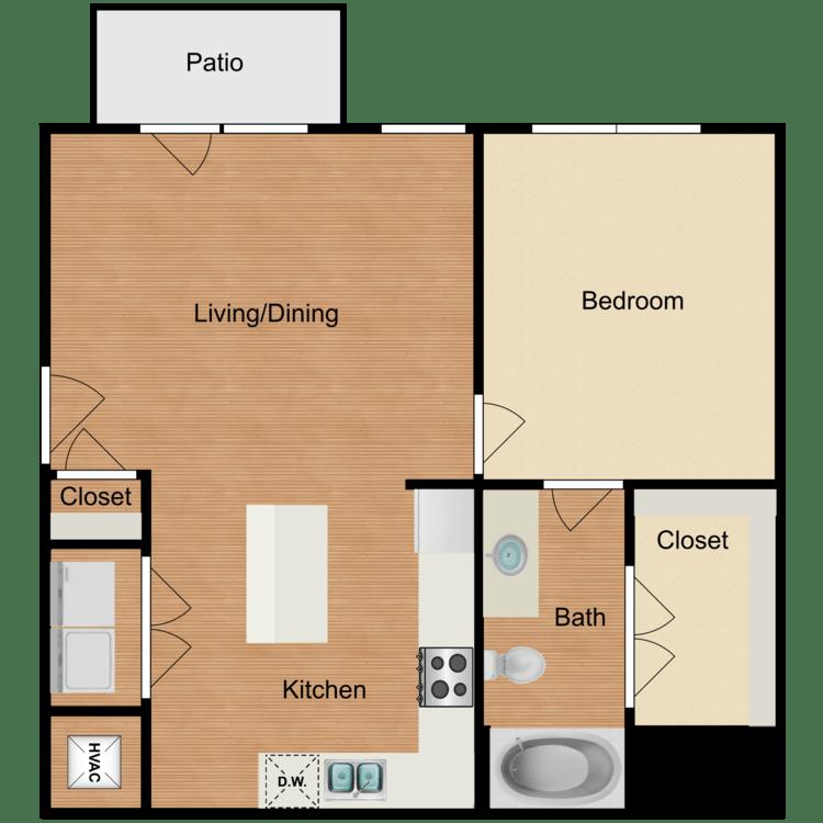 1 Bedroom 1 Bathroom Apartment for rent at Midtown Cedar Hill Apartments in Cedar Hill, TX