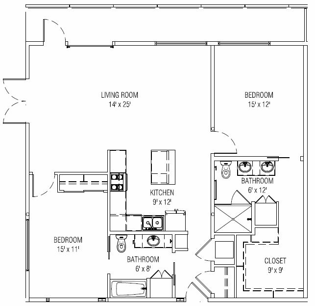 2 Bedrooms 2 Bathrooms Apartment for rent at Lumina in Denver, CO