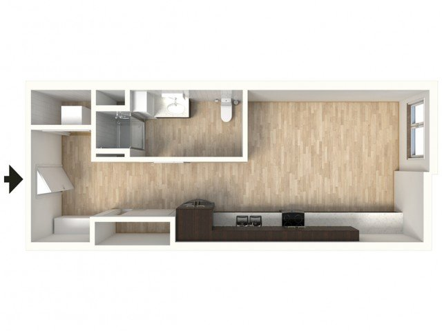 Studio 1 Bathroom Apartment for rent at Tennyson Place in Denver, CO