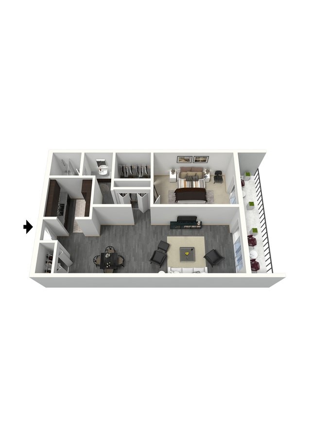 1 Bedroom 1 Bathroom Apartment for rent at The Paramount in Denver, CO