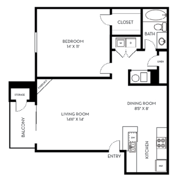 1 Bedroom 1 Bathroom Apartment for rent at St. Moritz in Lakewood, CO