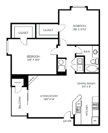 2 Bedrooms 1 Bathroom Apartment for rent at St. Moritz in Lakewood, CO
