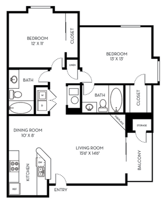 2 Bedrooms 2 Bathrooms Apartment for rent at St. Moritz in Lakewood, CO