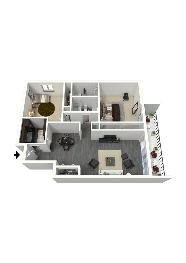 2 Bedrooms 2 Bathrooms Apartment for rent at The Paramount in Denver, CO