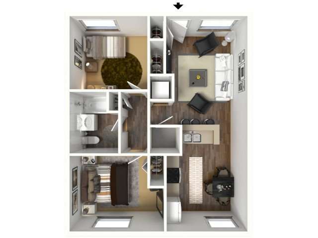 2 Bedrooms 1 Bathroom Apartment for rent at The Berkeley At Regis in Denver, CO