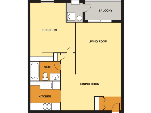1 Bedroom 1 Bathroom Apartment for rent at Davison Square in Pittsburgh, PA