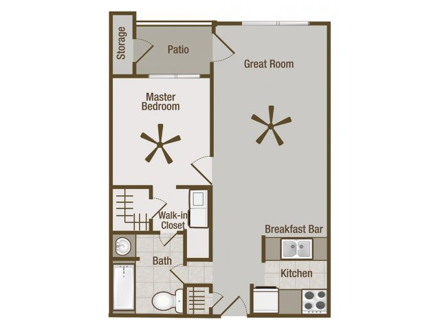 1 Bedroom 1 Bathroom Apartment for rent at Amelia Village Apartments in Clayton, NC