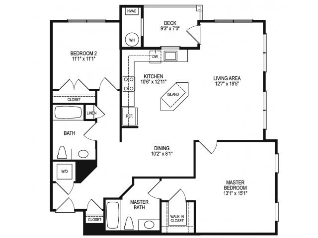 2 Bedrooms 2 Bathrooms Apartment for rent at The View At Mill Run in Owings Mills, MD