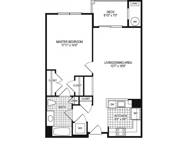 1 Bedroom 1 Bathroom Apartment for rent at The View At Mill Run in Owings Mills, MD