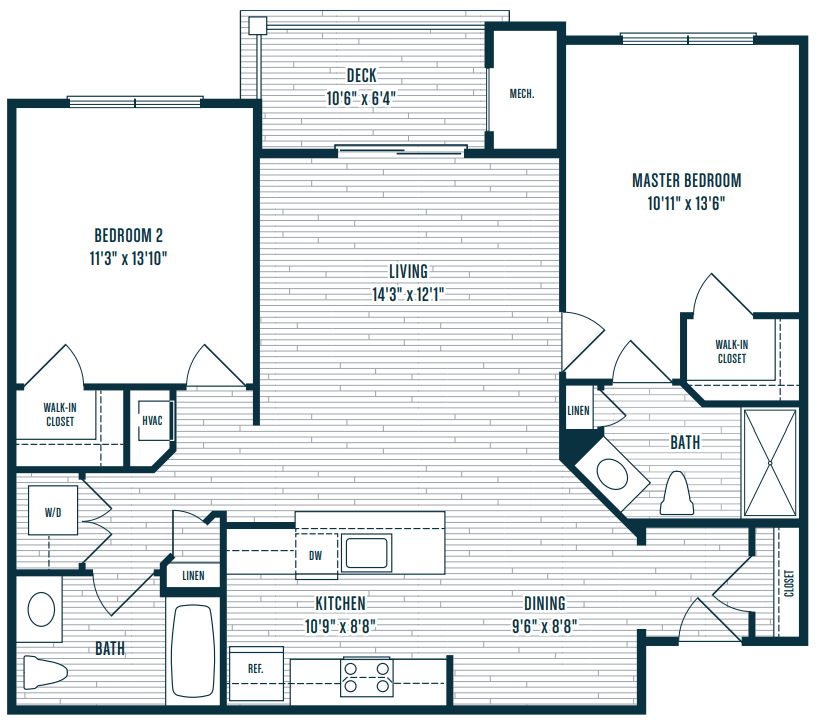 2 Bedrooms 2 Bathrooms Apartment for rent at The Apartments At Charlestown Crossing in North East, MD