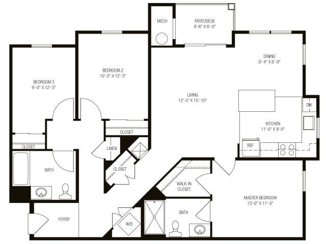 3 Bedrooms 2 Bathrooms Apartment for rent at The Apartments At Charlestown Crossing in North East, MD