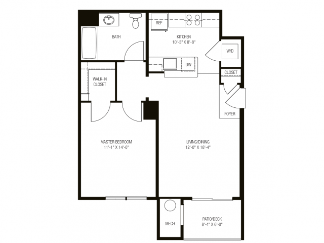 1 Bedroom 1 Bathroom Apartment for rent at The Apartments At Charlestown Crossing in North East, MD