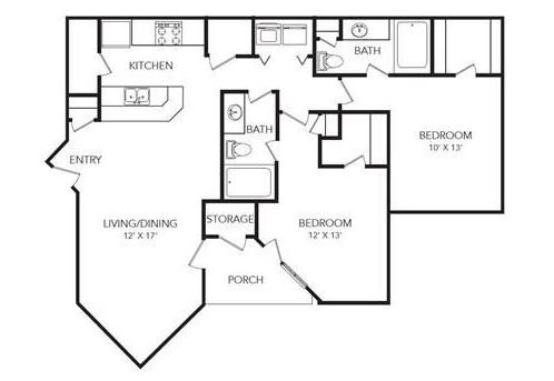 2 Bedrooms 2 Bathrooms Apartment for rent at Eclipse Apartments in Duluth, GA