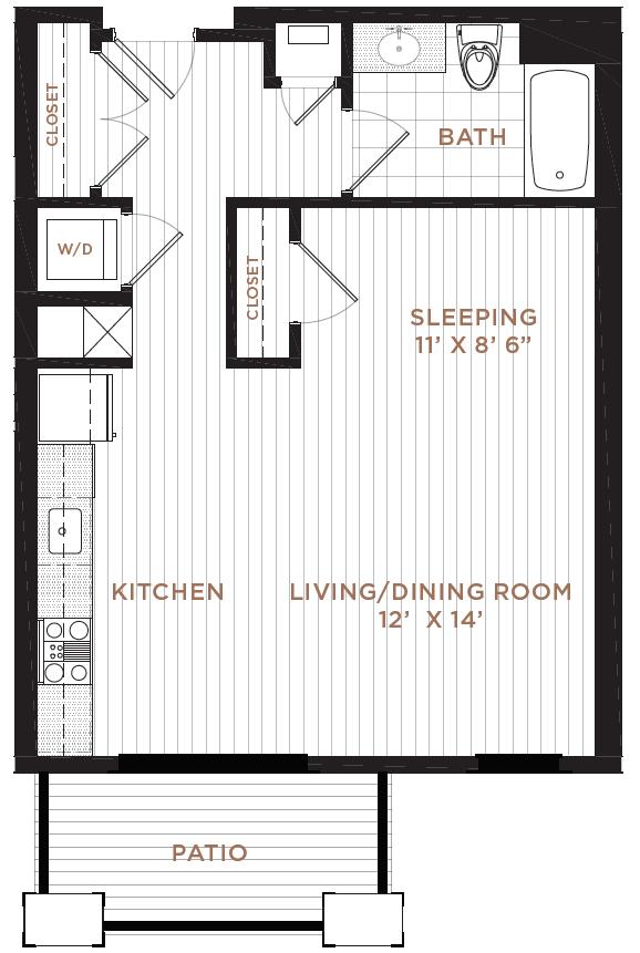 Studio 1 Bathroom Apartment for rent at Corsa in Salem, NH