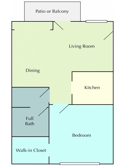 1 Bedroom 1 Bathroom Apartment for rent at Arrowhead Apartments & Townhomes in La Crosse, WI