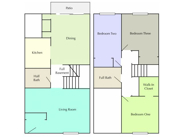 3 Bedrooms 1 Bathroom Apartment for rent at Arrowhead Apartments & Townhomes in La Crosse, WI