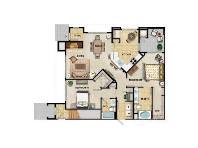 2 Bedrooms 2 Bathrooms Apartment for rent at 9920 Apartments in Phoenix, AZ