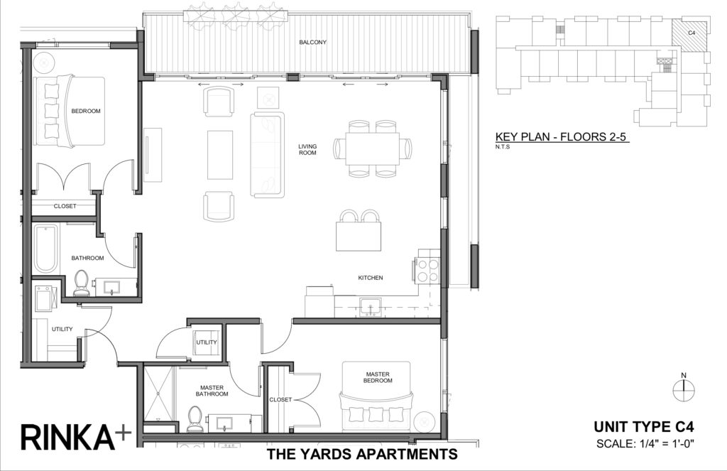 2 Bedrooms 2 Bathrooms Apartment for rent at The Yards in Milwaukee, WI