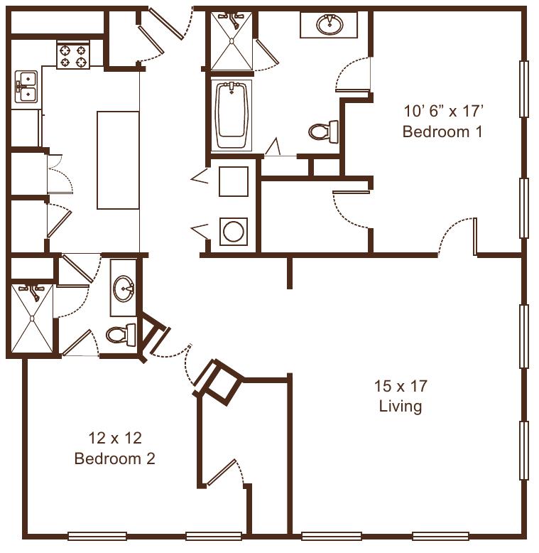 2 Bedrooms 2 Bathrooms Apartment for rent at Metro67 in Memphis, TN